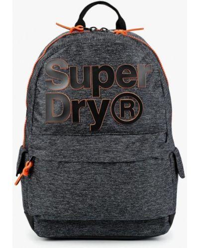 Серый рюкзак городской Superdry