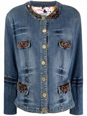 Ватная синяя длинная джинсовая куртка A.n.g.e.l.o. Vintage Cult