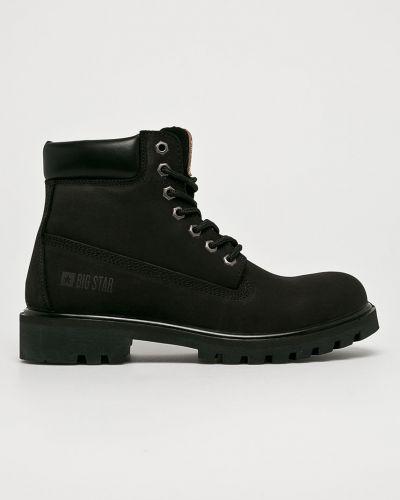 Ботинки на шнуровке кожаные высокие Big Star