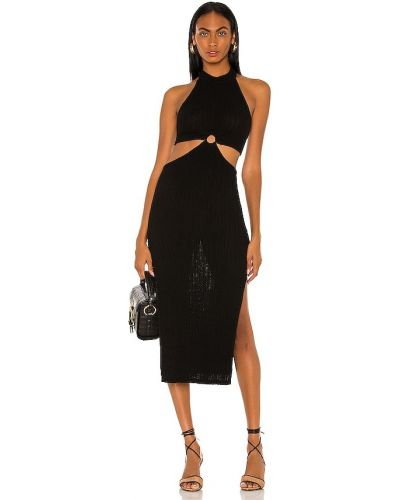 Джинсовое платье миди - черное L'academie