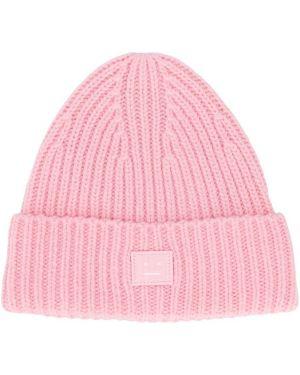 Шерстяная розовая шляпа Acne Studios Kids