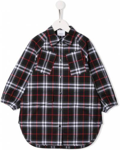 Рубашка с воротником с узором Burberry Kids