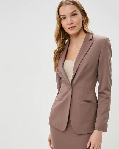 Коричневый пиджак весенний La Biali