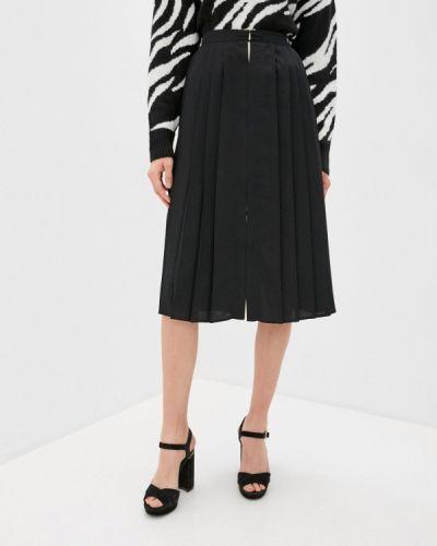 Плиссированная черная юбка Twinset Milano