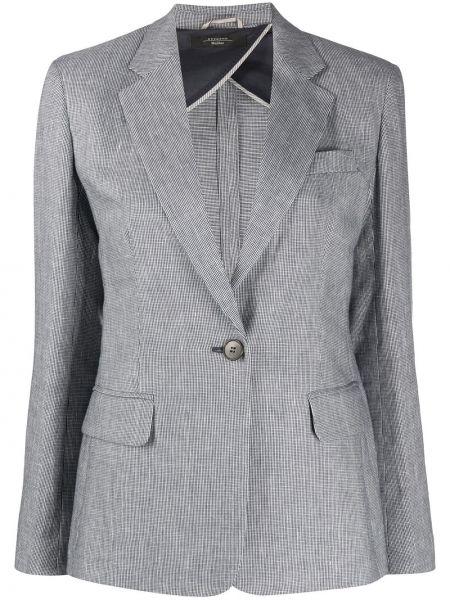 Классическая синяя куртка с воротником узкого кроя Weekend Max Mara