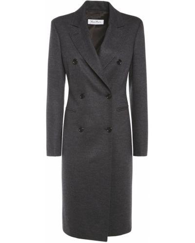 Серое пальто на пуговицах Max Mara