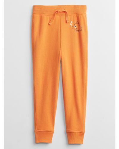 Joggery - pomarańczowe Gap