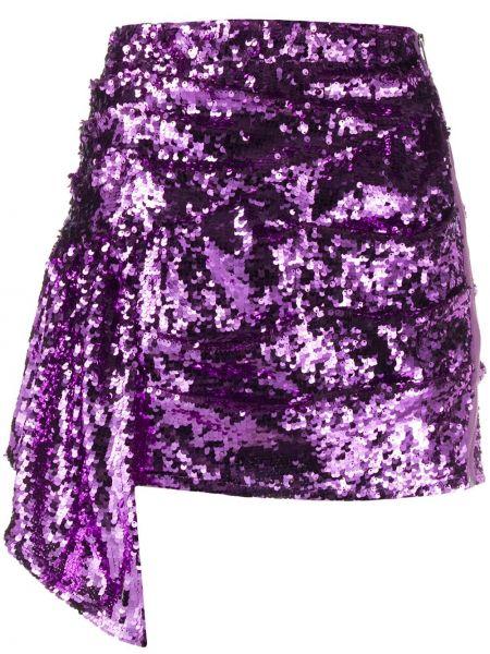 Юбка мини с пайетками фиолетовый For Love & Lemons