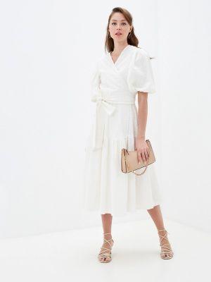 Белое платье с запахом Lorani