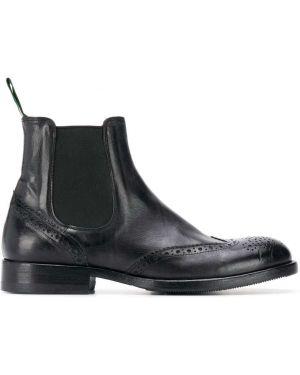 Однобортные черные сапоги Green George