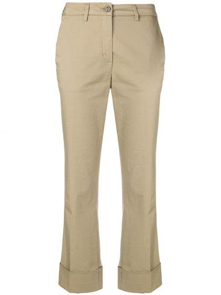 Укороченные брюки с поясом с карманами Fay