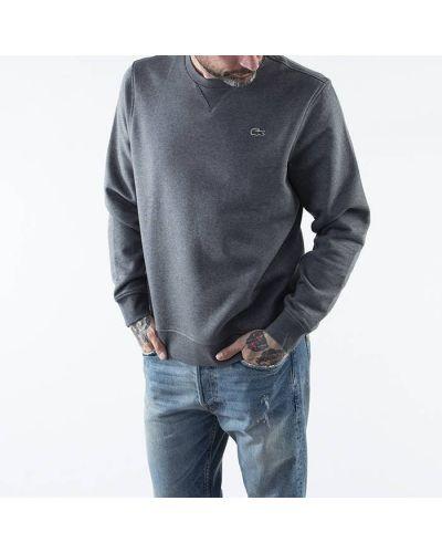 Спортивный флисовый серый свитшот Lacoste