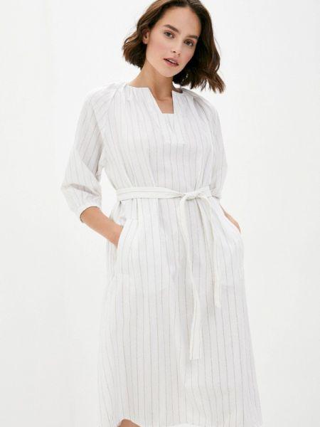Белое прямое платье B.style