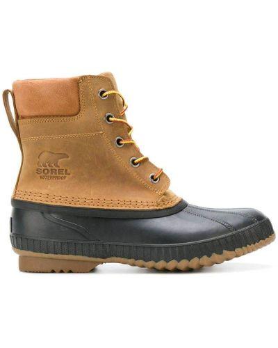 Ботинки на шнуровке кожаные Sorel