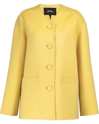 Кашемировая желтая куртка Marc Jacobs