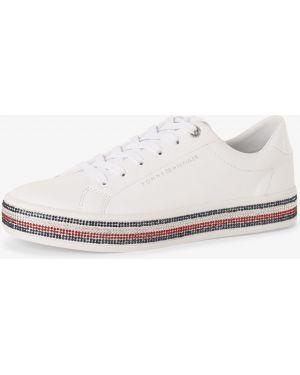 Sneakersy białe ze skałami Tommy Hilfiger
