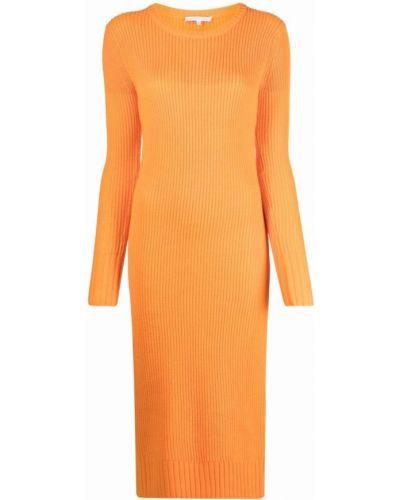 Оранжевое платье макси с длинными рукавами Patrizia Pepe