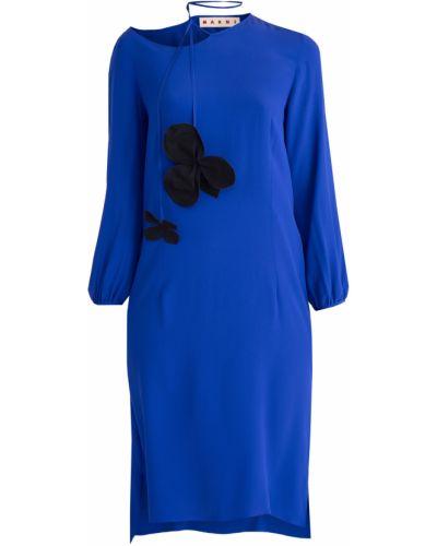 Платье с вырезом с воротником Marni