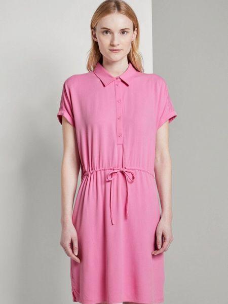 Розовое джинсовое платье Tom Tailor Denim