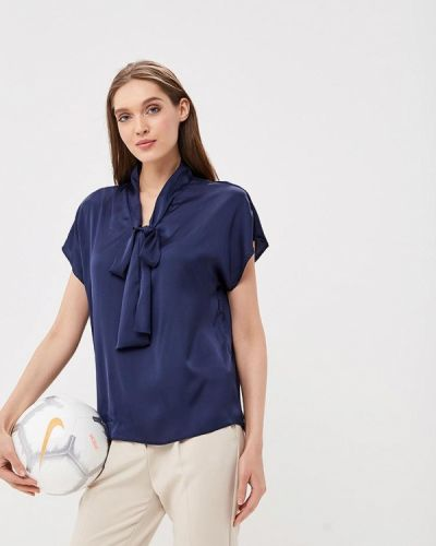 Синяя блузка с бантом Sartori Dodici