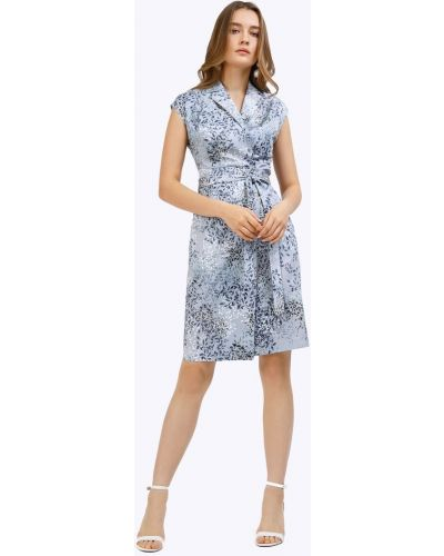 Приталенное платье мини с запахом с короткими рукавами Emka