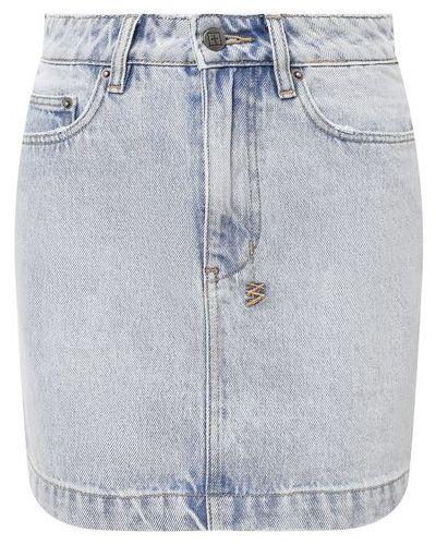 Джинсовая юбка - голубая Ksubi