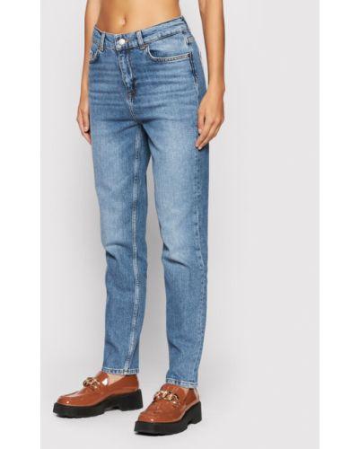 Mom jeans - niebieskie Selected Femme