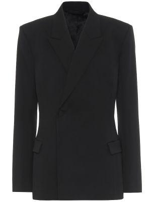 Пиджак черный шерстяной Balenciaga