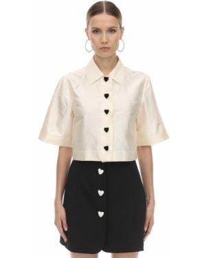 Сатиновая классическая рубашка с воротником на кнопках с лебяжьим пухом George Keburia