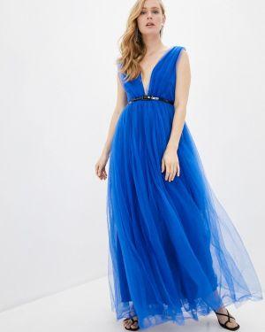 Вечернее платье на тонких бретелях синее Nothing But Love
