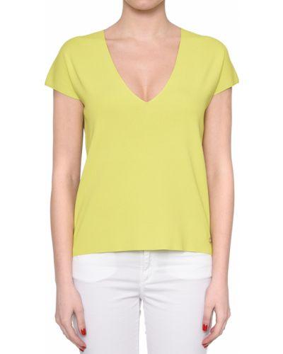 Блузка из вискозы желтый Trussardi Jeans