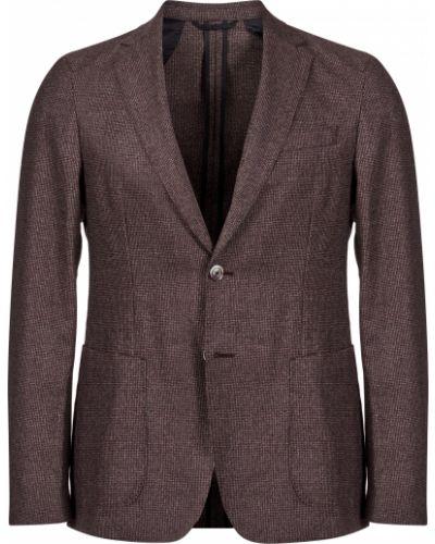 Пиджак шерстяной коричневый Hugo Boss