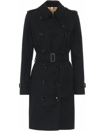 Черное пальто из габардина Burberry
