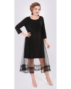 Вечернее платье сетчатое со складками тм леди агата