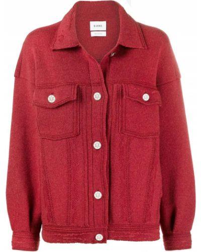 Ватная вязаная красная куртка Barrie