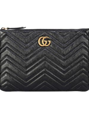 Черный клатч Gucci