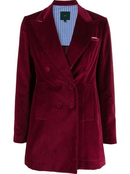 Красный классический пиджак двубортный на пуговицах Jejia