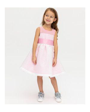 Платье макси розовое в полоску Gulliver Wear