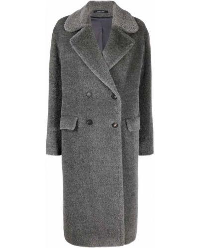 Серое пальто с лацканами Tagliatore