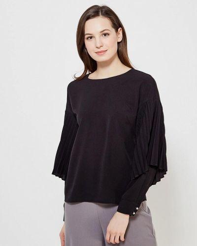 Черная блузка с рюшами Zarina