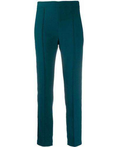 Зеленые облегающие брюки на молнии Hebe Studio