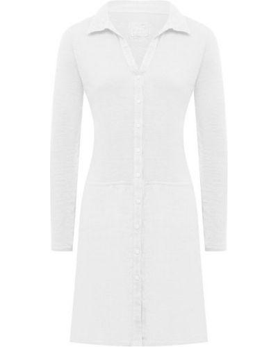 Льняная белая блузка 120% Lino