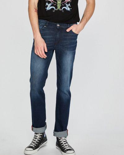 Прямые джинсы на пуговицах с карманами Trussardi Jeans