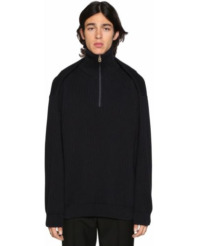 Prążkowany sweter oversize bawełniany Balenciaga