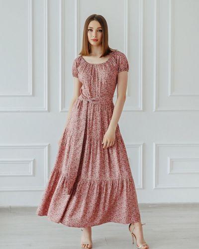 Фиолетовое платье из штапеля инсантрик