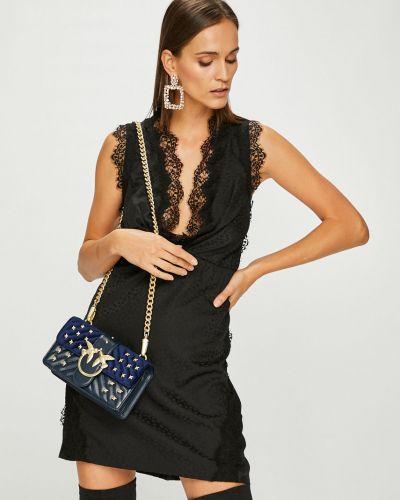 Платье мини с V-образным вырезом с поясом Pinko