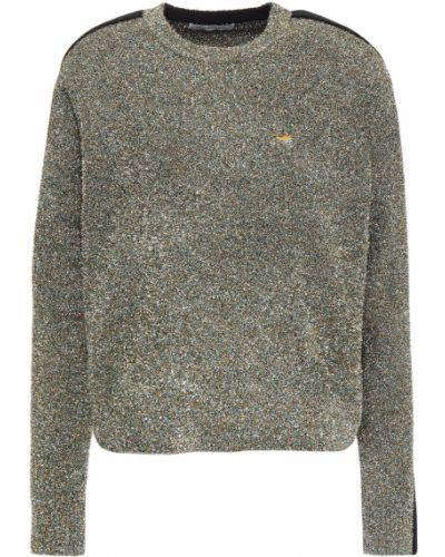 Черный шерстяной свитер в полоску Bella Freud