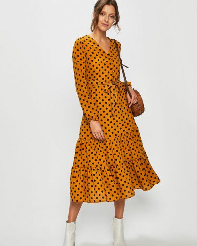 Sukienka mini w pasy z guzikami Only