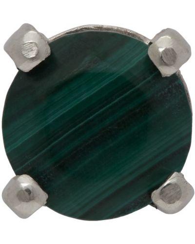 Зеленые серебряные серьги Www.willshott