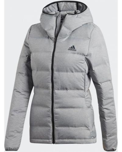 Теплый пуховик - серый Adidas